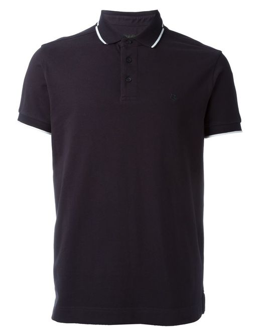 Z zegna classic polo shirt in white for men blue lyst for Zegna polo shirts sale