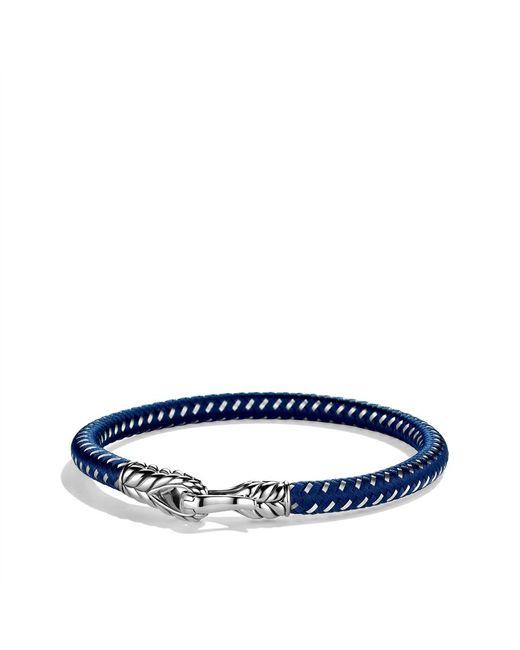 David Yurman | Blue Chevron Singlerow Bracelet in Navy for Men | Lyst