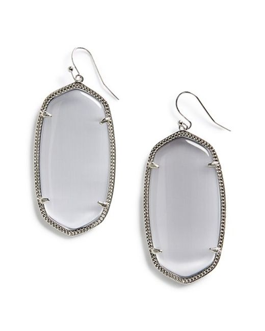 Kendra Scott | Metallic Danielle - Large Oval Statement Earrings | Lyst