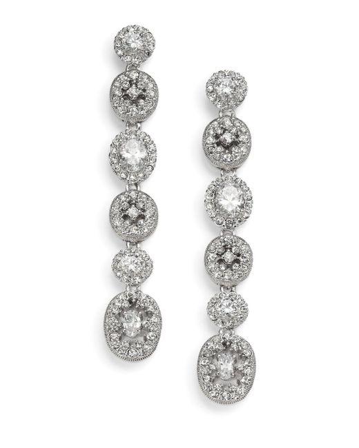 Adriana Orsini | Metallic Faceted Linear Drop Earrings | Lyst