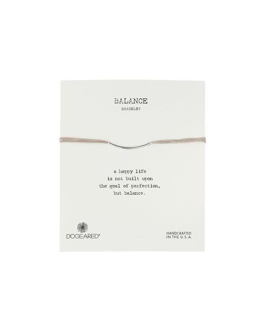 Dogeared | Metallic Balance Bar Silk Bracelet Taupe | Lyst