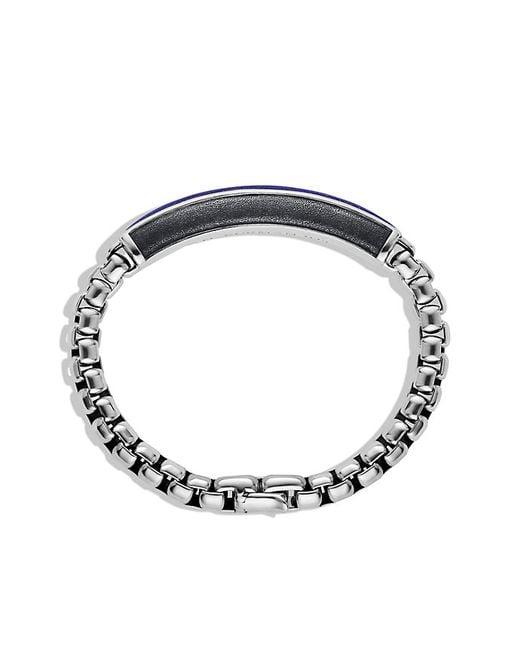David Yurman   Metallic Exotic Stone Id Bracelet With Lapis Lazuli for Men   Lyst