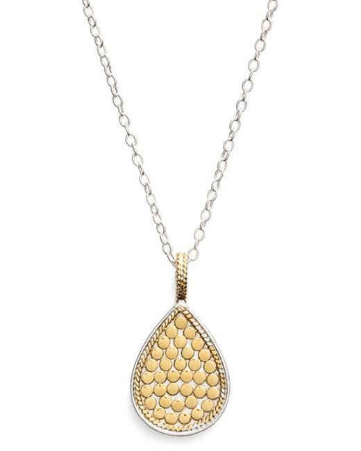 Anna Beck | Metallic 'gili' Reversible Teardrop Pendant Necklace | Lyst