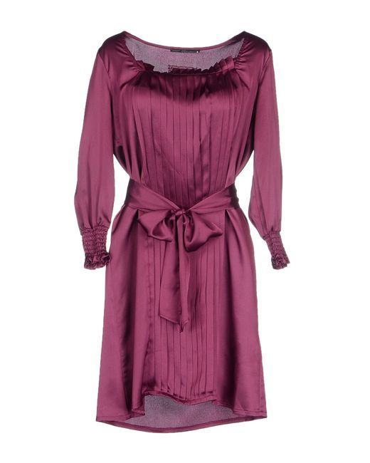 GAUDI   Purple Short Dress   Lyst