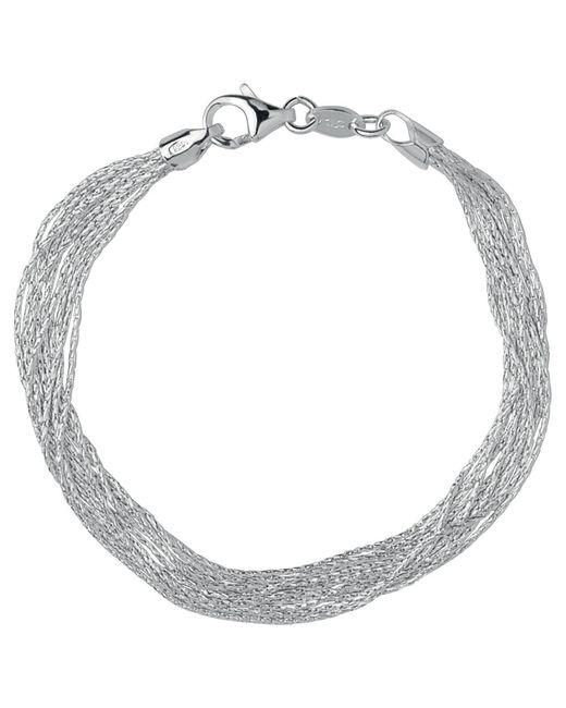 Links of London | Metallic Essentials Sterling Silver Silk 10 Row Bracelet | Lyst