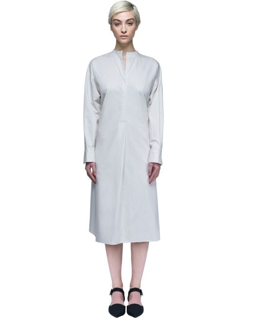 marant dress with belt in white lyst