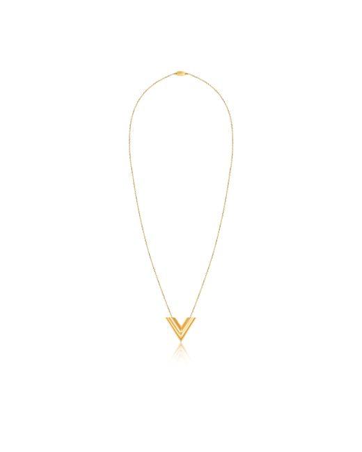 Louis Vuitton | Metallic Essential V Sautoir | Lyst