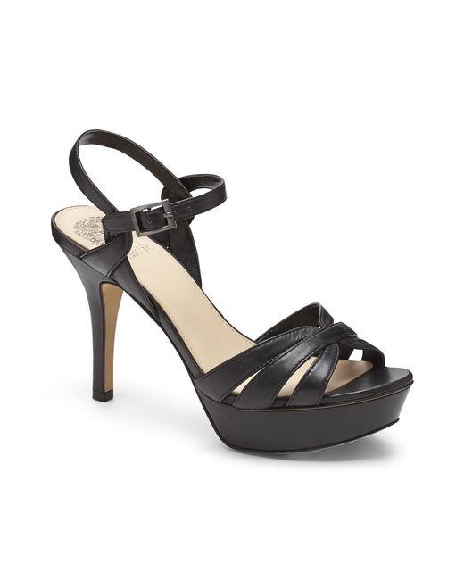 Vince Camuto   Black Peppa – Strappy Platform Sandal   Lyst