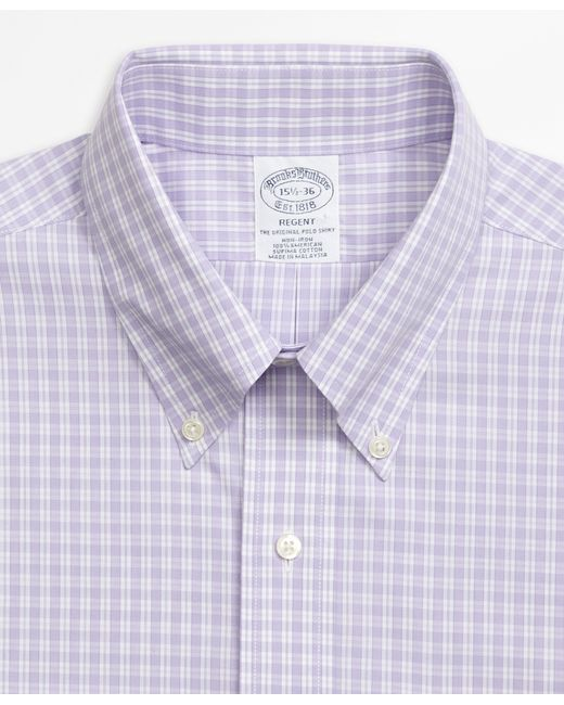 Brooks brothers non iron regent fit twin gingham dress for Brooks brothers dress shirt fit guide