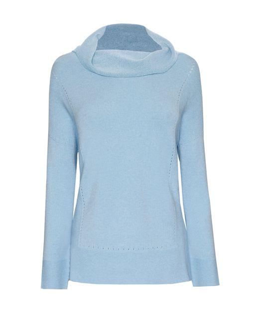 James Lakeland | Blue Cowl Neck Knitwear | Lyst