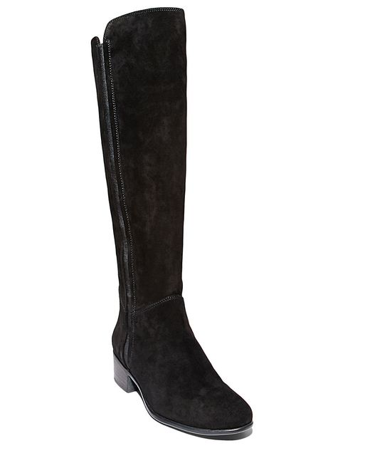 Steve Madden | Black Pullon Suede Knee-high Boots | Lyst