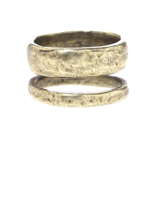 Jill Golden | Metallic Double Band Ring | Lyst