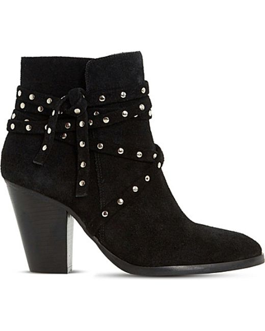 dune payten suede ankle boots in black save 58 lyst