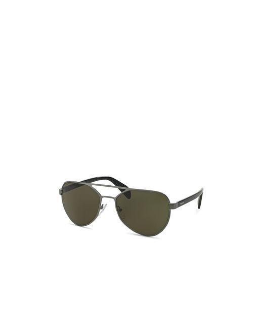Prada | Silver Aviator Sunglasses, 58mm for Men | Lyst