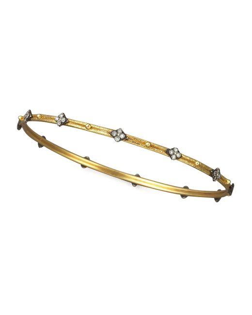 Armenta | Metallic Diamond Quatrefoil Bangle  | Lyst