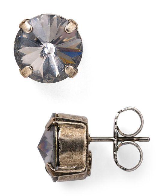 Sorrelli   Metallic Round Stud Earrings   Lyst
