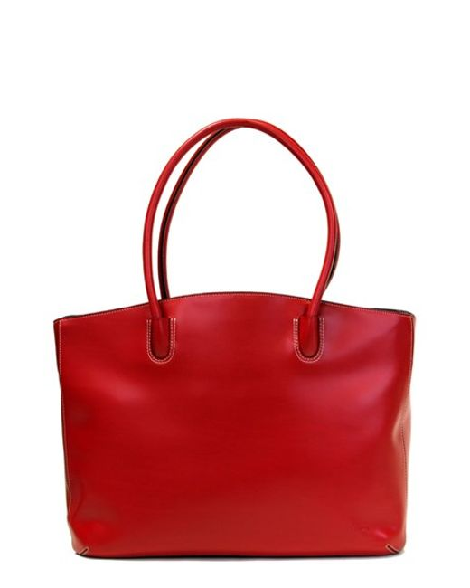 Lodis | Red 'audrey - Milano' Leather Computer Tote | Lyst