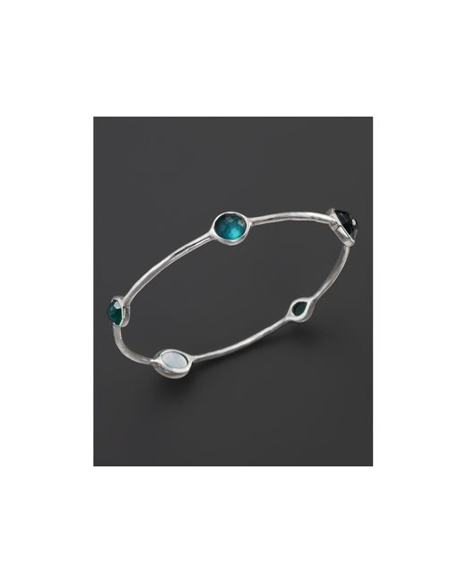 Ippolita | Green Rock Candy Sterling Silver Wonderland Bangle In Neptune | Lyst