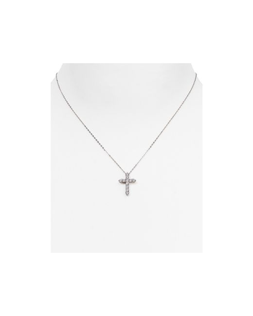 Nadri | Metallic Cross Pendant Necklace, 16"
