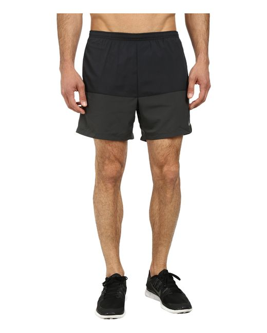"Nike | Black 5"" Distance Running Short for Men 