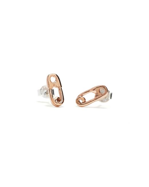 Bing Bang | Pink Safety Pin Studs | Lyst