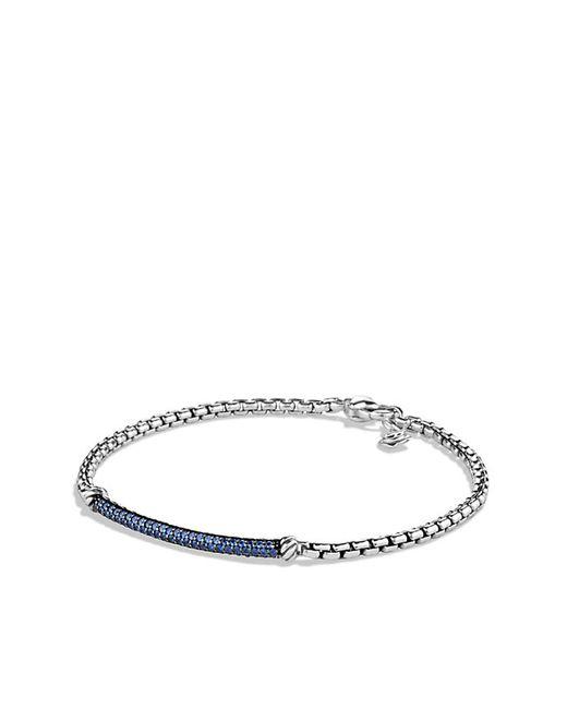 David Yurman   Petite Pavé Bar Bracelet With Blue Sapphires   Lyst