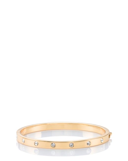 Lyst Kate Spade Set In Stone Stone Hinged Bangle In Metallic