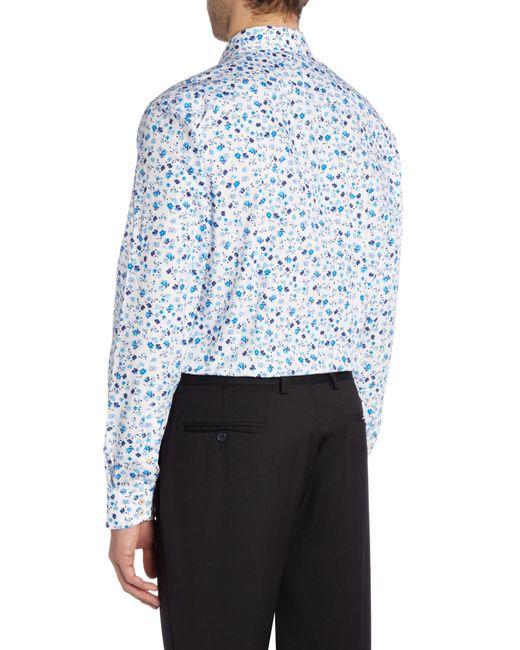 Ted baker hampshi floral shirt in blue for men lyst for Ted baker floral shirt
