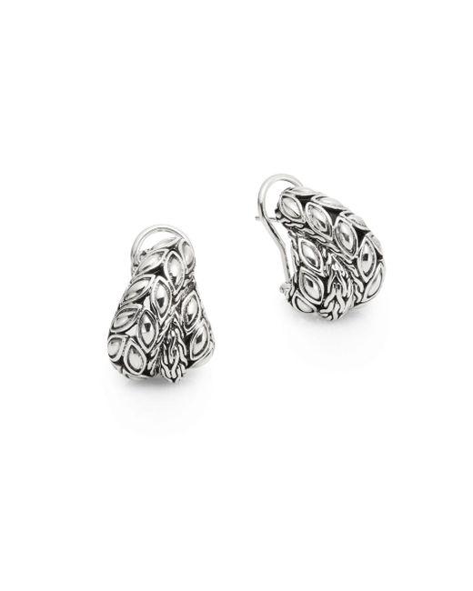 John Hardy | Metallic Padi Sterling Silver Overlap Earrings | Lyst