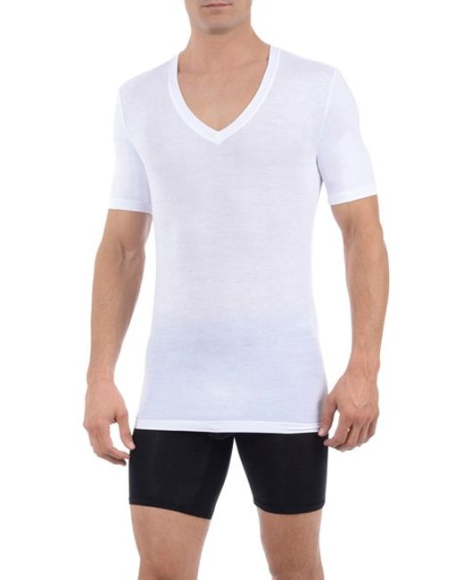 Tommy John | White 'second Skin' Deep V-neck Undershirt for Men | Lyst