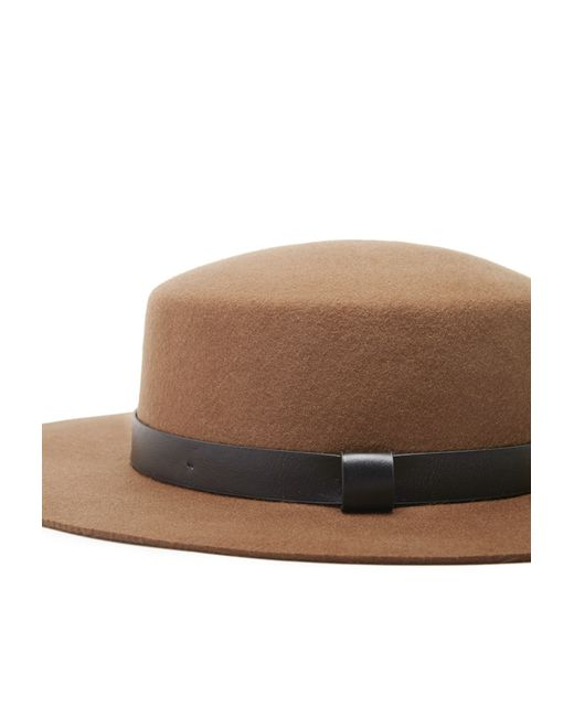 Forever 21 | Brown Wide-brim Wool Boater Hat | Lyst