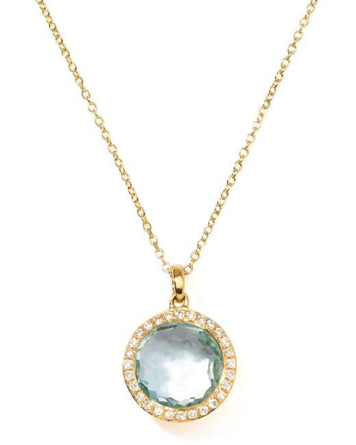 Ippolita | Metallic 18k Gold Rock Candy Mini Lollipop Diamond Blue Topaz Necklace | Lyst