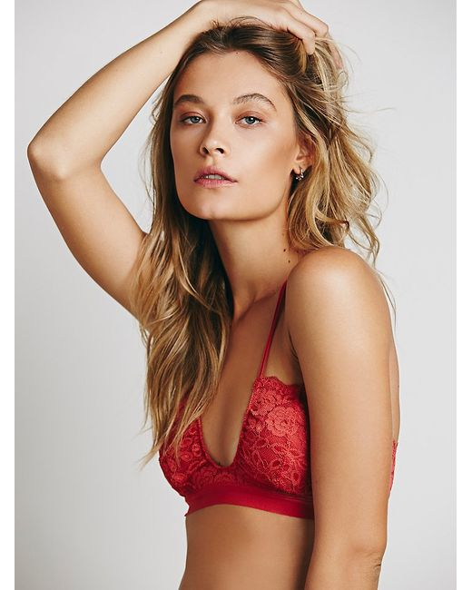 Free People | Red All For U Bra | Lyst