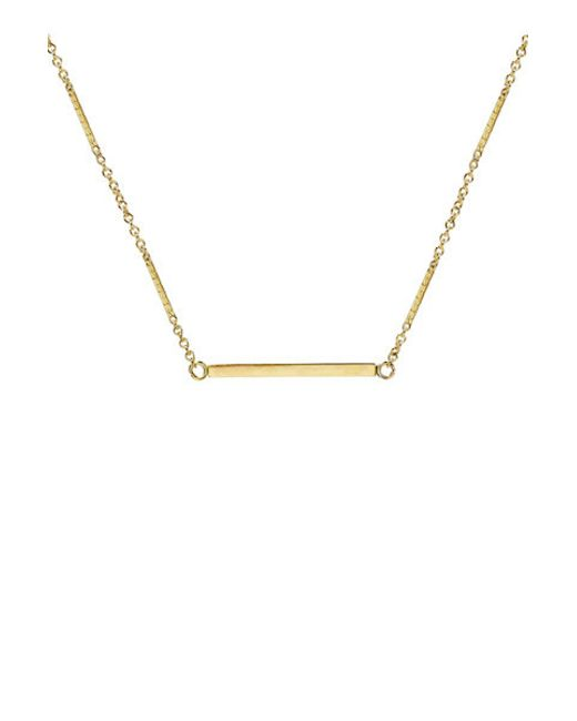 Kris Nations | Metallic Classic Single Bar Necklace | Lyst