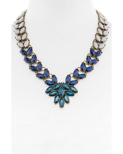 BaubleBar | Blue 'marbled Garland Brooch' Collar Necklace | Lyst