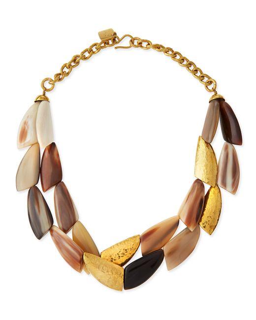 Ashley Pittman | Metallic Shabaha Mixed Horn Wing Collar Necklace | Lyst