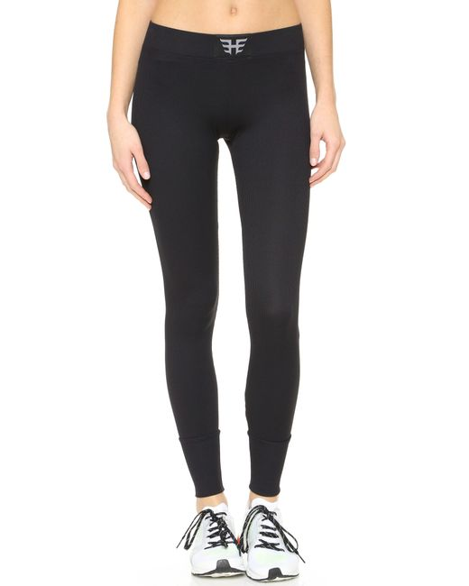 heroine sport ribbed performance leggings in black lyst. Black Bedroom Furniture Sets. Home Design Ideas