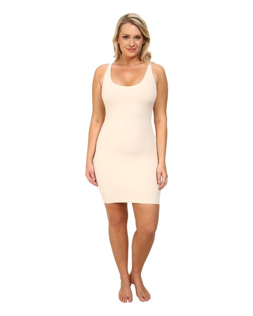 Yummie By Heather Thomson | Natural Plus Size Andrea Built Up Slip | Lyst