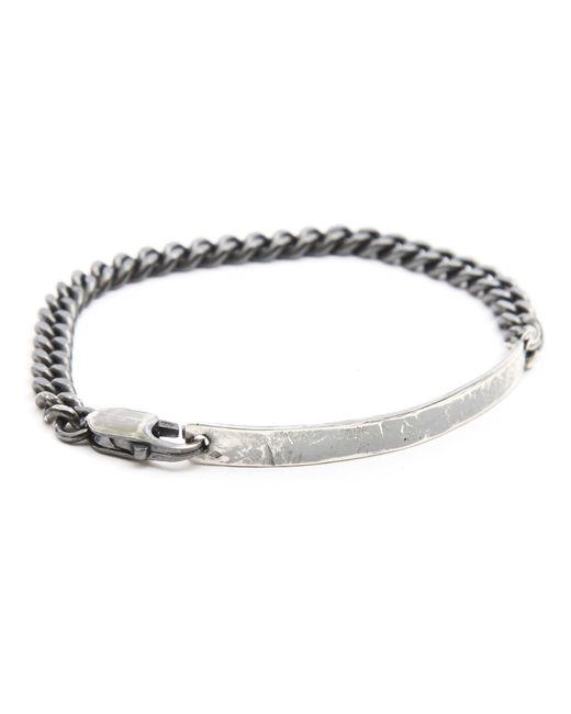 Gilbert Gilbert   Metallic Basic Silver Bracelet for Men   Lyst
