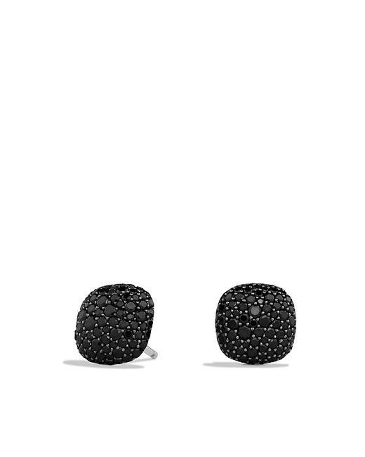 David Yurman | Pavé Earrings With Black Diamonds In 18k White Gold | Lyst