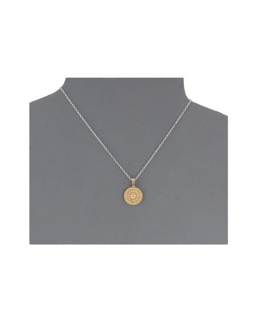 "Anna Beck | Metallic Reversible Multi-disk Charity Necklace W/ 16-18"" Chain 