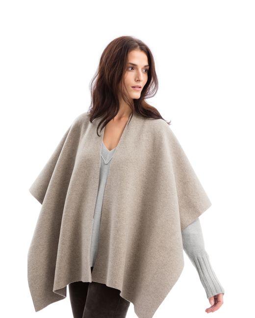 iris von arnim poncho maroon in gray kiesel silber lyst. Black Bedroom Furniture Sets. Home Design Ideas