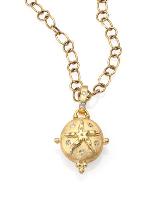 Temple St. Clair | Metallic Tree Of Life Diamond & 18k Yellow Gold Small Sea Star Locket | Lyst