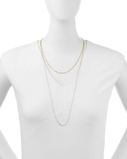 Jennifer Zeuner | Metallic Double Layered Gold Vermeil Necklace | Lyst