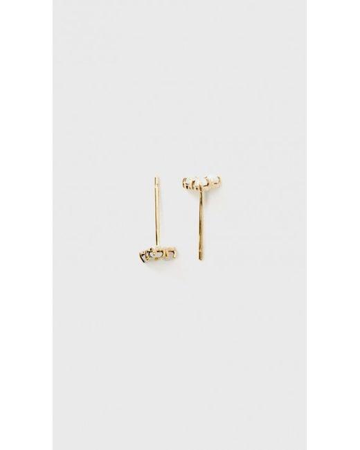 Wwake | Metallic Tri Opal Earrings | Lyst