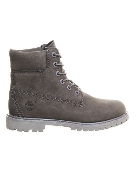 timberland premium 6 boots in gray grey lyst. Black Bedroom Furniture Sets. Home Design Ideas