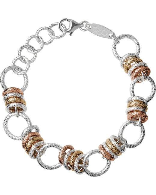 Links of London | Brown Aurora Sterling Silver Large Link Bracelet | Lyst