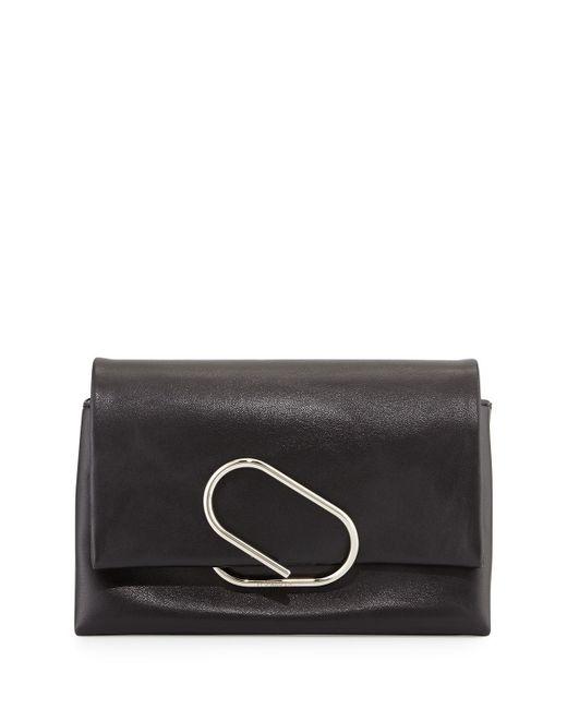 3.1 Phillip Lim | Black Alix Soft Flap Clutch Bag | Lyst