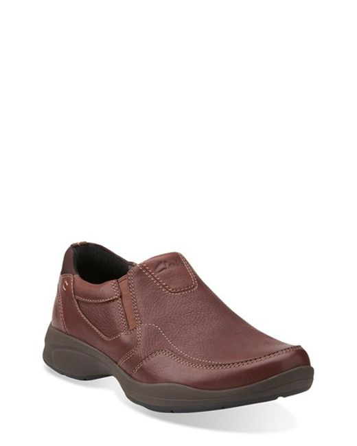 Clarks | Brown Clarks 'wavekorey Free' Slip-on for Men | Lyst