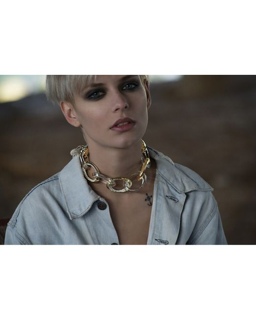Yael Salomon | Metallic Links 03 Gold And Resin Necklace | Lyst